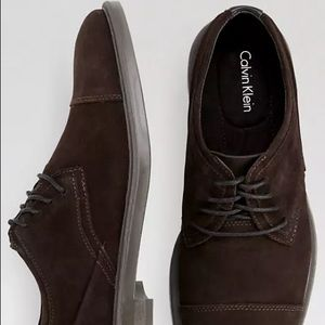 Calvin Klein Men's Upton Suede Brown Shoes